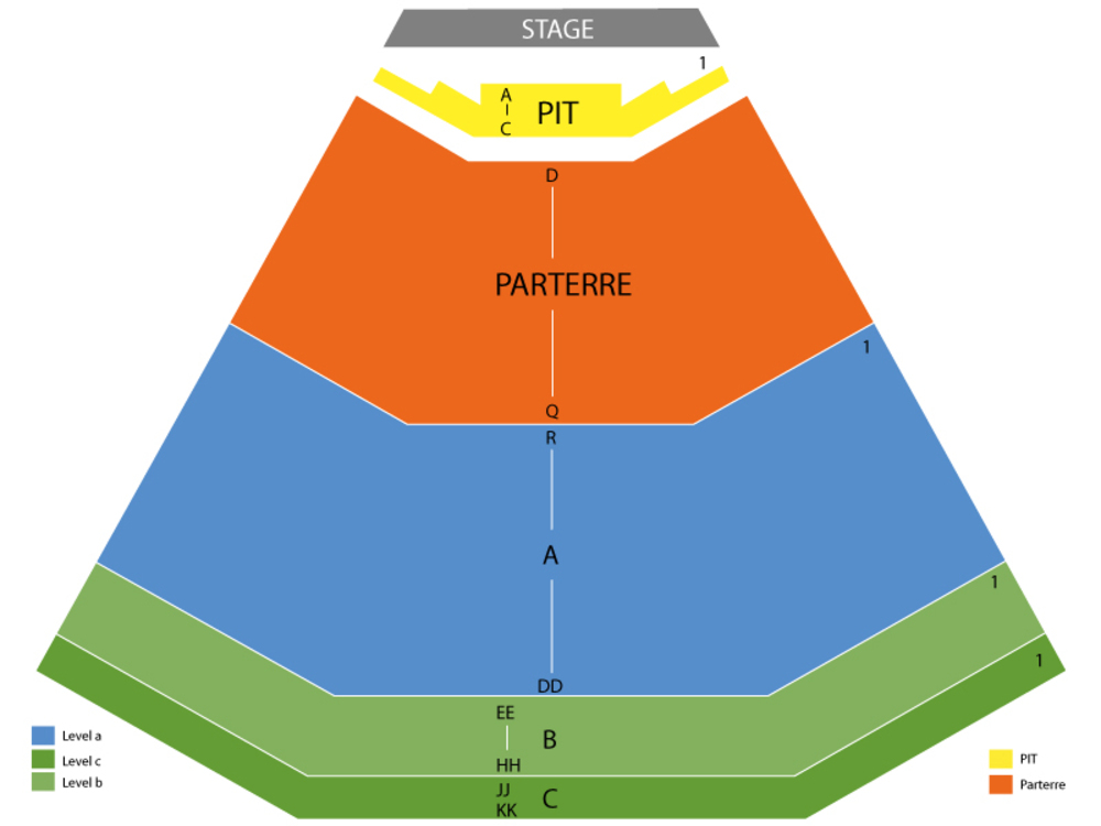 Melissa Etheridge (Rescheduled from 5/1/20) Venue Map