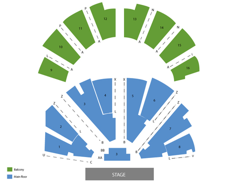 Amy Grant with Vince Gill Venue Map