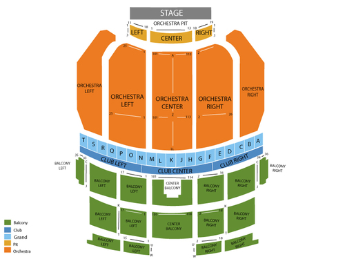 Saenger Theatre - New Orleans Seating Chart