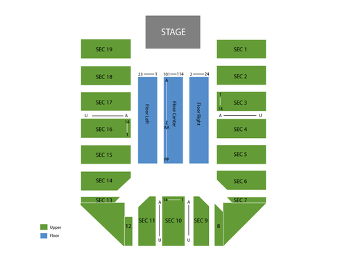 Event Center at San Jose State University Seating Chart