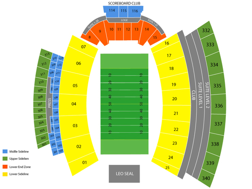 Bowling Green Falcons at Mississippi State Bulldogs Football Venue Map