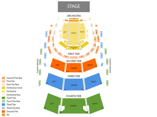Ziff Ballet Opera House (Adrienne Arsht Center) Seating Chart