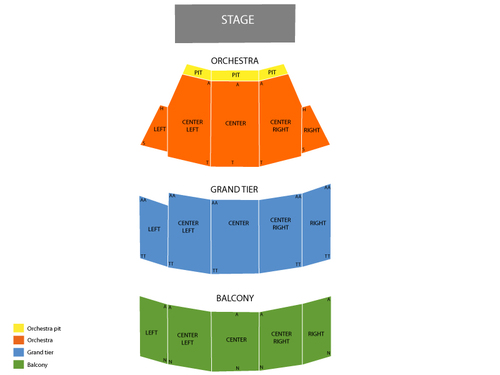 Selena Auditorium Seating Chart