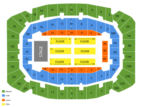 Selland Arena - Fresno Convention Center Seating Chart