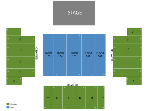 Motley Crue Venue Map