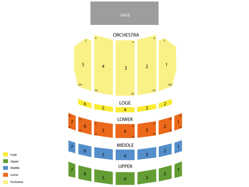 Seating Chart for Full House Seating Chart at Sheas Performing Arts Center