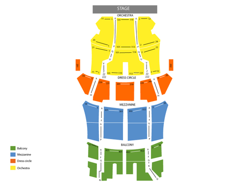 Bank of America Theatre Seating Chart