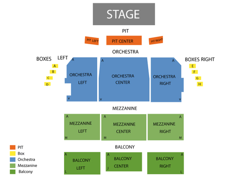 Shubert Theatre-MA Seating Chart