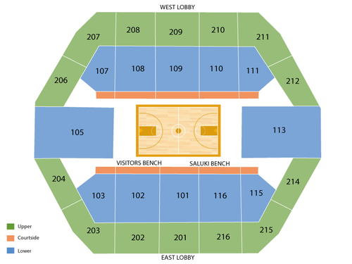 SIU Arena Seating Chart