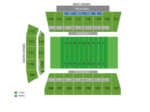 H.A. Chapman Stadium Seating Chart