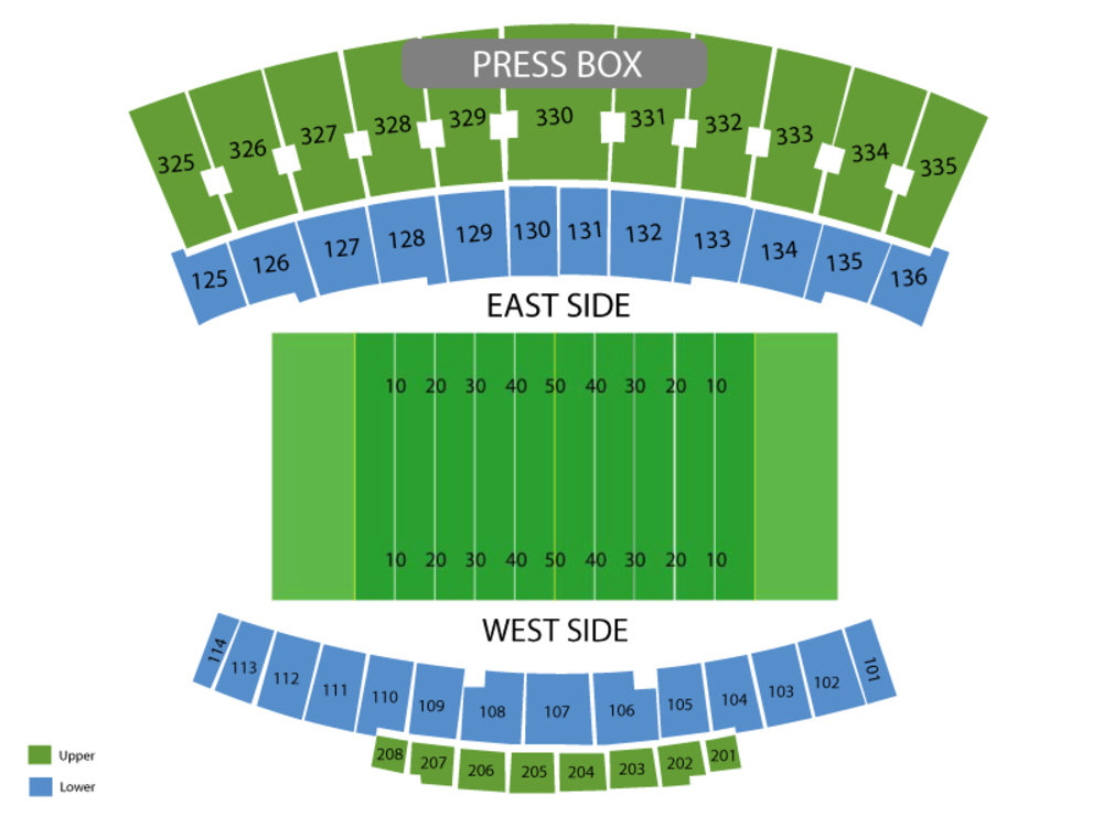 UNC Charlotte 49ers at Western Kentucky Hilltoppers Football Venue Map