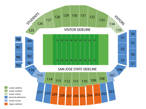 Spartan Stadium-CA Seating Chart