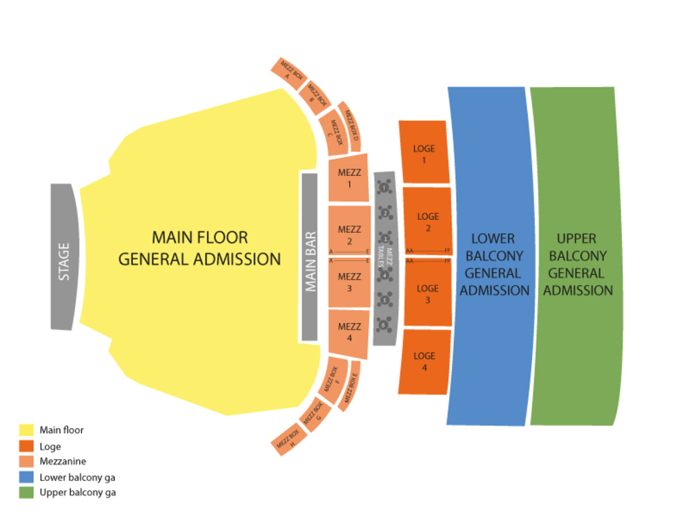 Nick Offerman Venue Map