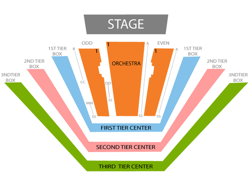 David Geffen Hall Seating Chart