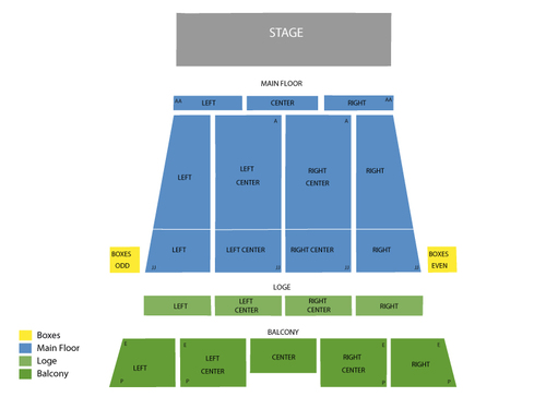 Stranahan Theatre Seating Chart