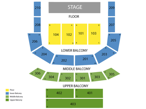 The Tabernacle Seating Chart