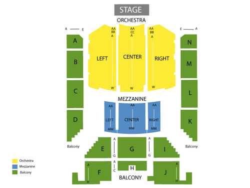 Thomas Wolfe Auditorium at US Cellular Center Seating Chart