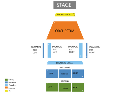Fred Kavli Theatre - Thousand Oaks Civic Arts Seating Chart