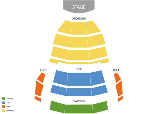 Tennessee Performing Arts Center Andrew Jackson Hall Seating Chart