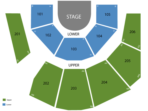 Mystere Theatre - Treasure Island Seating Chart