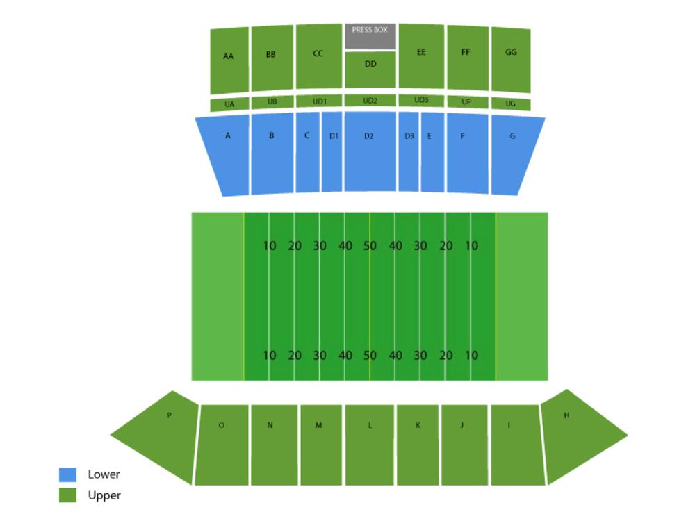 New Mexico State Aggies at Louisiana-Lafayette Ragin' Cajuns Football Venue Map