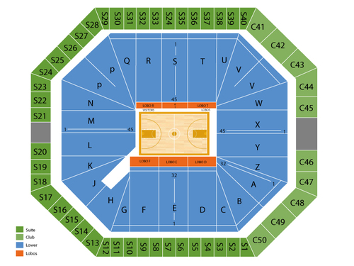 The Pit (University Arena) Seating Chart
