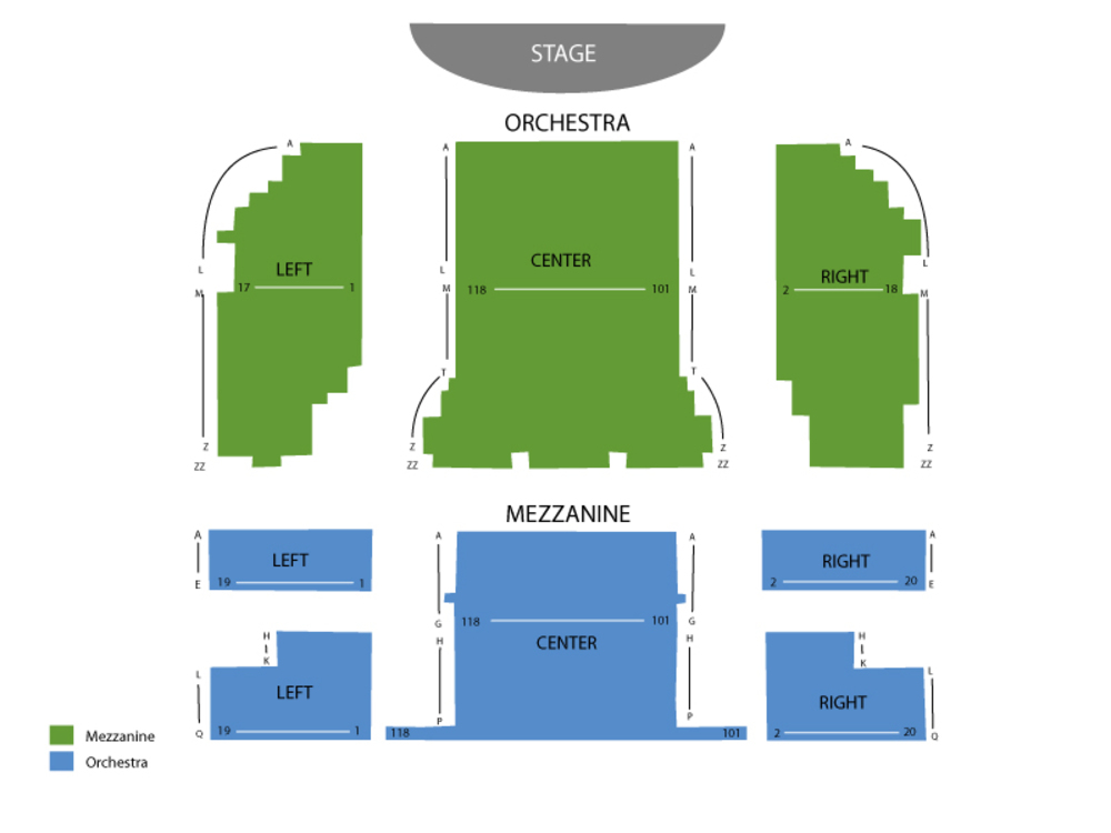 Seating Chart August Wilson Theater