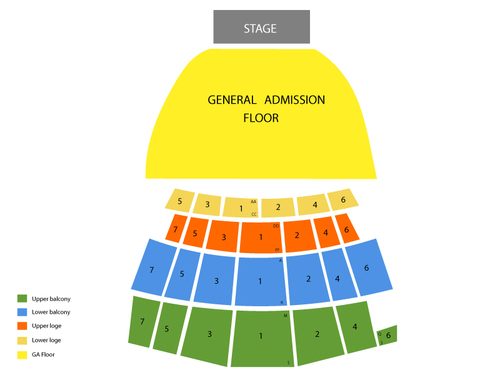 The Warfield Seating Chart