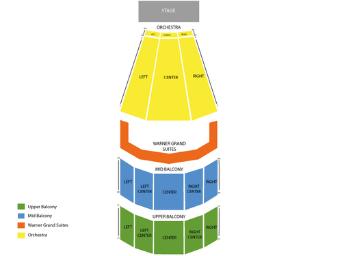 Warner Theatre - DC Seating Chart