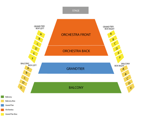 Kentucky Center - Whitney Hall Seating Chart