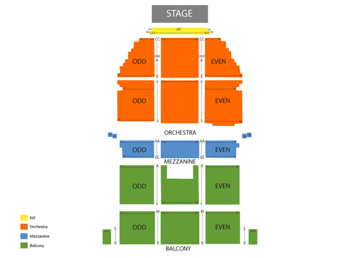 Saban Theater Seating Chart
