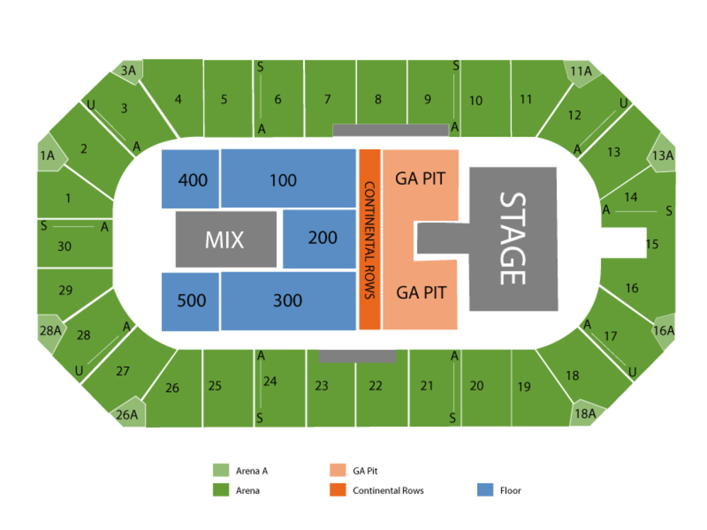 Wings Event Center seating map and tickets