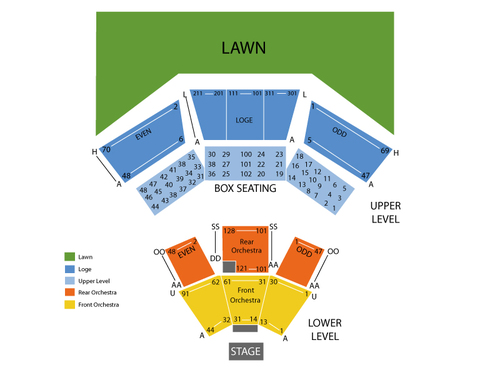 The Temptations and The Four Tops Venue Map