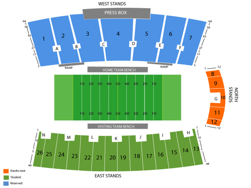 Yager Stadium Seating Chart