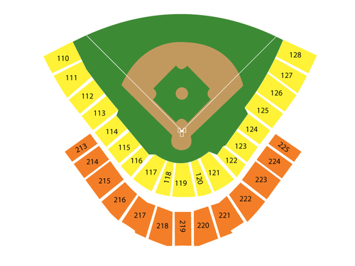 Iowa Cubs at New Orleans Zephyrs Venue Map
