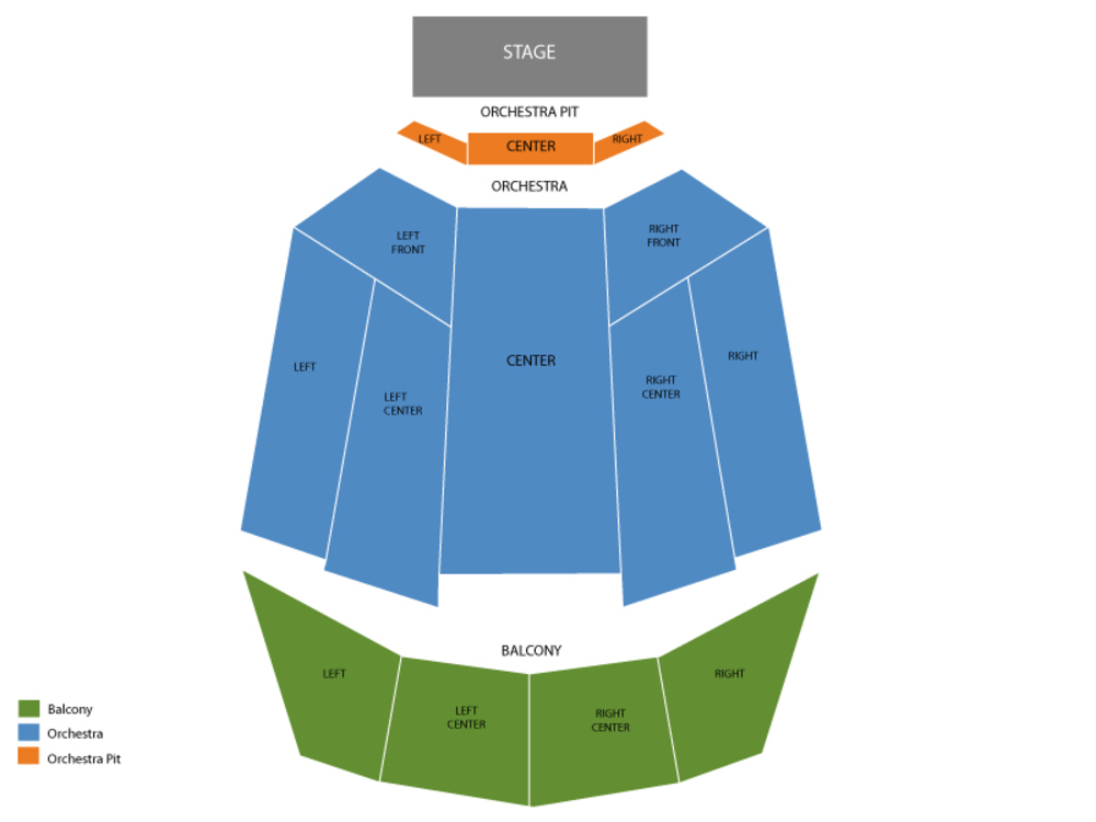 Tennessee Theatre seating map and tickets