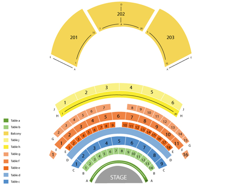 Potawatomi Casino-Northern Lights Theatre Seating Chart