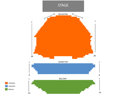 ASU Gammage Auditorium Seating Chart