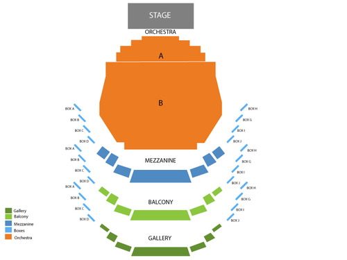 Riverdance Venue Map