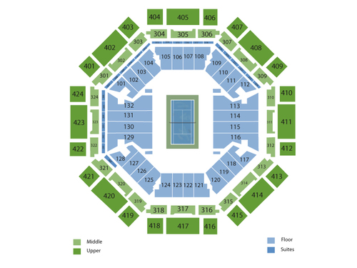 Sony Open Tennis: Session 11 Venue Map