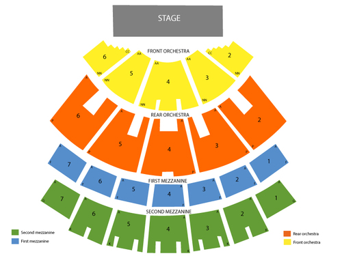 The Colosseum - Caesars Palace Seating Chart