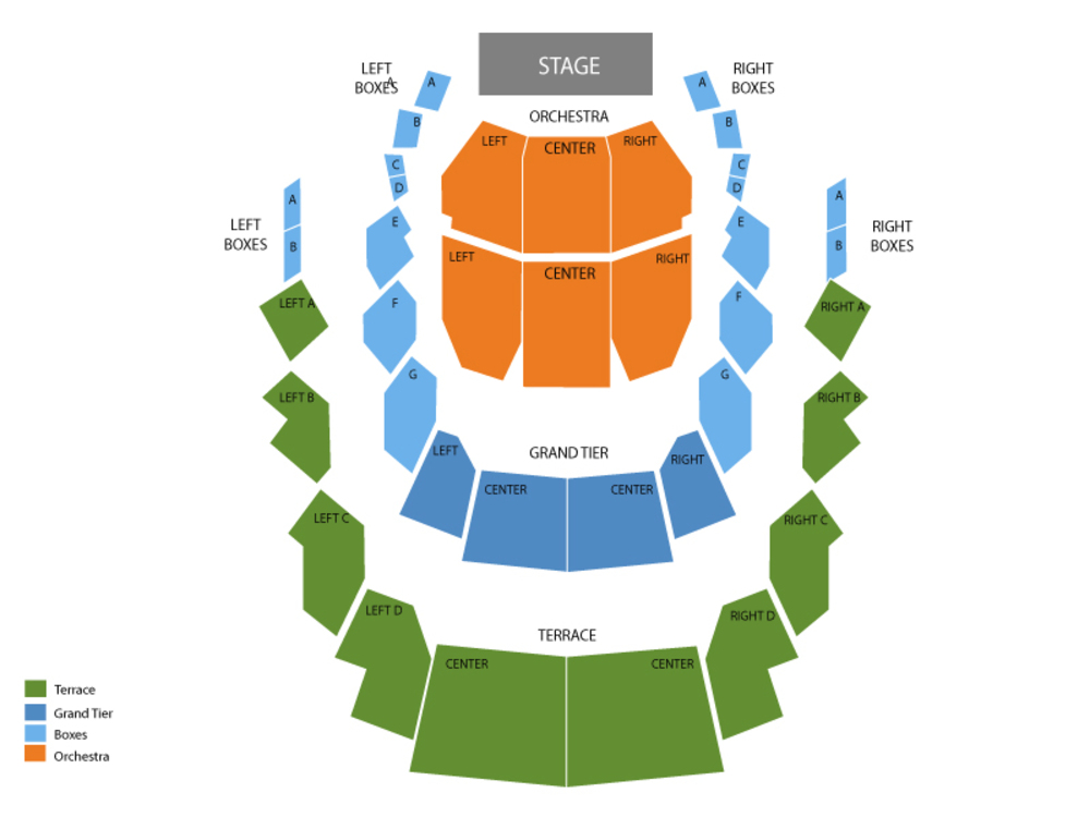 Sebastian Maniscalco Venue Map