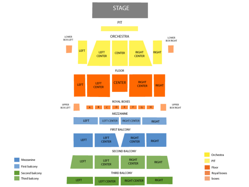 Morris Performing Arts Center seating map and tickets