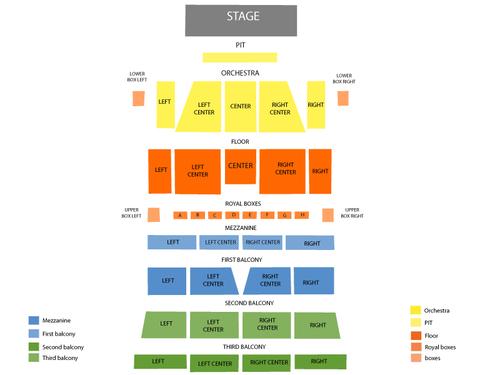 Morris Performing Arts Center Seating Chart