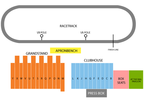 Saratoga Race Course Seating Chart