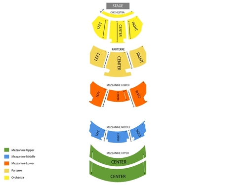 Dolby Theatre (Formerly Kodak Theatre) Seating Chart