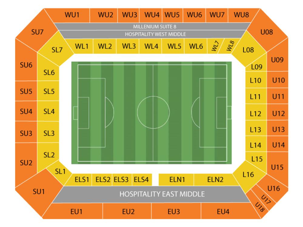 Seating Chart for Soccer Seating Chart at Stamford Bridge Stadium
