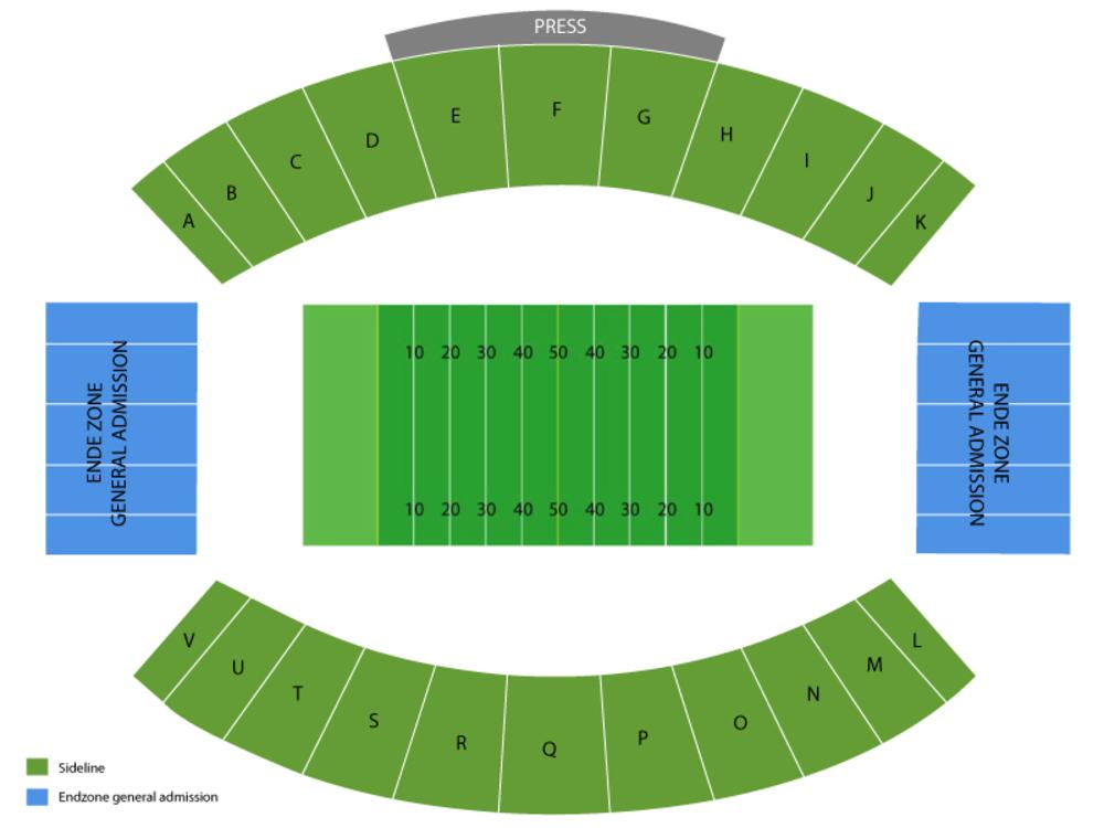 Louisiana Tech Bulldogs at South Alabama Jaguars Football Venue Map