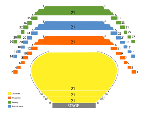 National Arts Centre Seating Chart