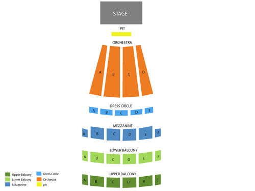 Arlene Schnitzer Hall Seating Chart